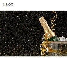 Laeacco Birthday Gold Dots Ribbon Beer Party Celebration Portrait Photography Backdrops Photo Background Photocall Photo Studio