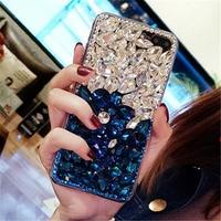 For IPhone 5 5S 6 6S 7 8 Plus X Luxury Girls Crystal Diamond Rhinestone Soft