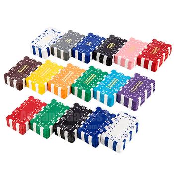 Kwadratowe żetony do pokera duża wartość gra kasyno Token Pocker Chips Set 74*44*3 6mm 30g z stalowy rdzeń 5 sztuk Fichas Pquer tanie i dobre opinie jialong Texas Hold em Square Poker Chips 5pcs 7 4*4 4*0 36cm Heavy Wipe with wet cloth and keep dry
