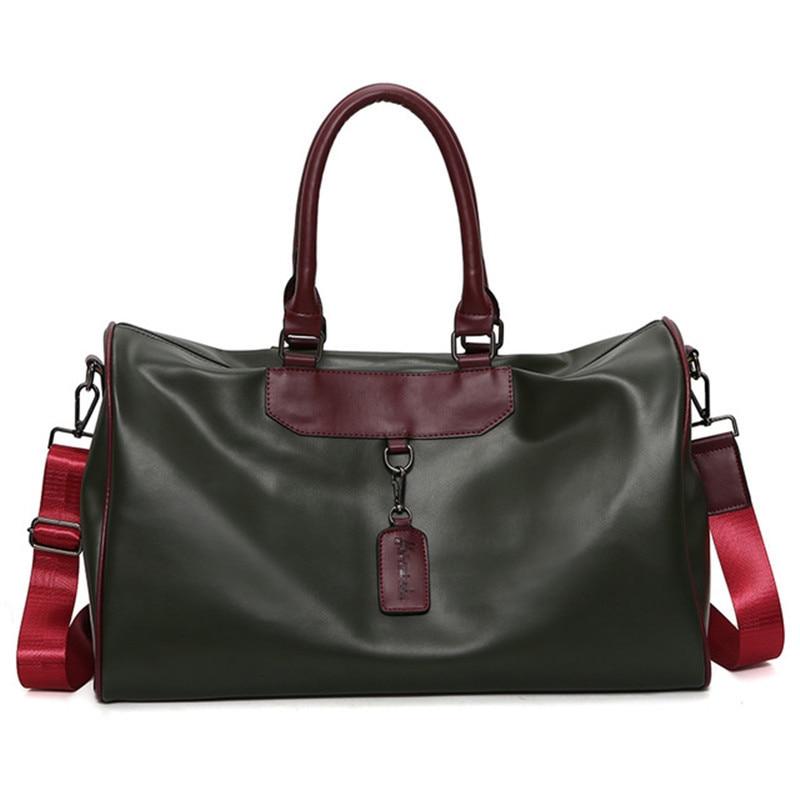 PU Waterproof Outdoor Women's Yoga Duffel Sports Bags Training Gym Bag Men's Fitness Sport Bag Women Travel Shoulder Handbag