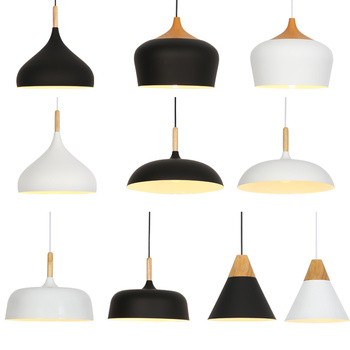 Nordic Pendant Lights E27 Pendant Lamp Light Fixtures Bar Cafe Restaurant for decor Loft Wood Aluminum Lampshade Hanging Lights botimi colorful pendant lights for dining nordic led pendant lamp with lampshade single e27 bar light indoor hanging lamps