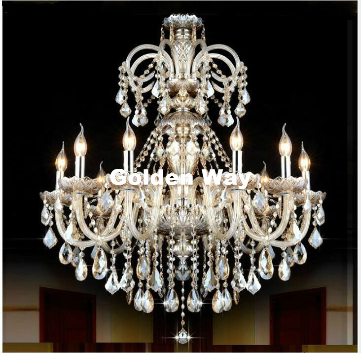 Modern Cognac Chandelier Crystal Pendant Chandelier Lights Fixtures Hotel Crystal Lighting Lamp Staircase Long Chandelier Light