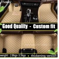 Custom fit car floor mats for Toyota Camry RAV4 Prius Prado Highlander Sienna zelas verso 3D car styling carpet liner