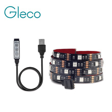 5V USB LED strip 5050 RGB Flexible Light 1M 2M TV Background Light  RGB LED Tape Mini 3Key RGB Controller