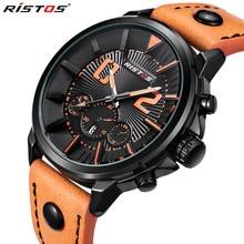 RISTOS Macho Moda Casual Reloj Para Hombre Relojes de Primeras Marcas de Lujo A Prueba de agua de pulsera de Cuarzo Militar Reloj Relogio masculino 93001