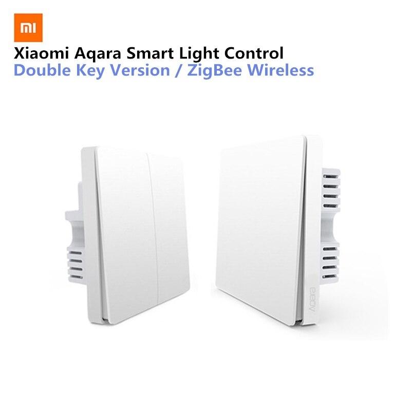 Xiaomi Aqara Intelligente Controllo Della Luce Filo di Fuoco E Linea Dello Zero ZigBee Connessione Wireless Singolo Versione Chiave/Chiave A Doppia Versione