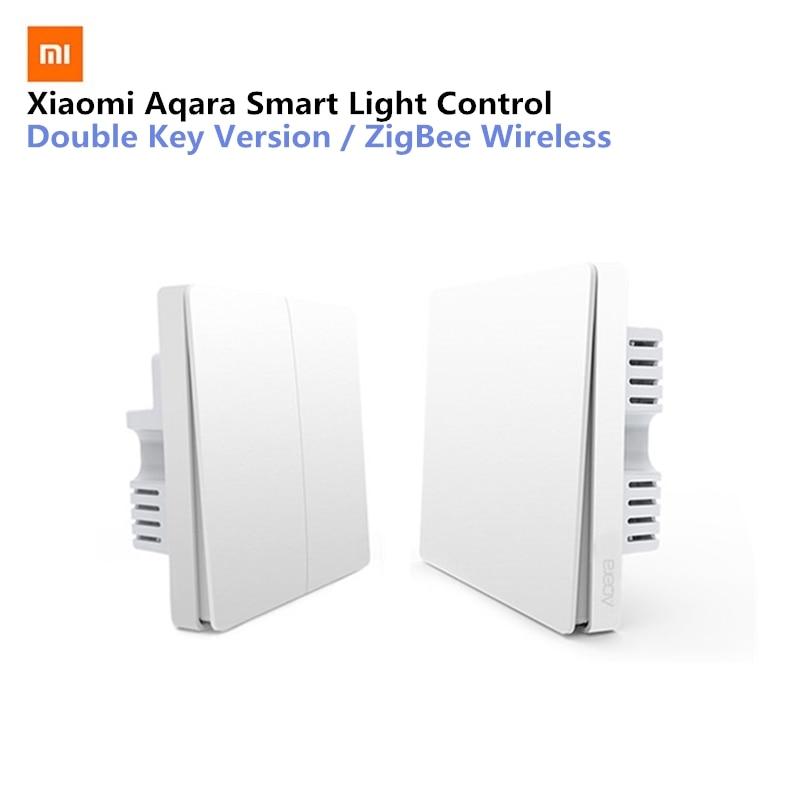 Xiaomi Aqara Smart Light Control Fire Wire And Zero Line ZigBee Wireless Connection Single Key Version/Double Key Version xiaomi aqara smart light control fire wire и zero line single key version