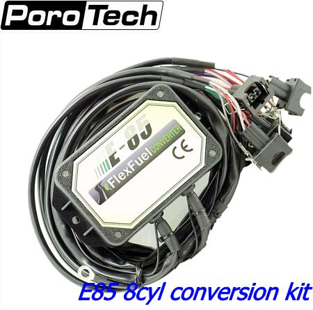 E85 Conversion Kit 8cyl -- Cold Start Asst. With Alloy Case, Bioethanol , Ethanol E85 Flex Fuel Kit