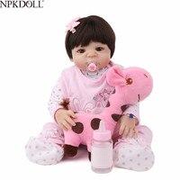 NPKDOLL мягкая силиконовая кукла Reborn Baby Lifelike Новорожденный Bebe Reborn Boneca прекрасный реалистичный Рождественский подарок игрушки для девочки