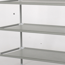 Simple modular shoe rack four layers shelf metal alloy iron -free water and dust Covers