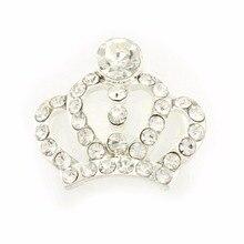 200pcs/lot 20mm Shining Crown Flatback Rhinestone Button DIY Handmade Accessories Selling in Bulk Kidoceese 200pcs lot pdtc115eu pdtc115