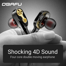 Dual Drive Stereo Earphone In-ear Headset Earbuds Bass Earphones for IPhone Huawei Xiaomi 3.5mm Earphones Sports with Mic in ear dual dynamic sports wired earphones hands free bass earbuds earphone with mic for smartphone