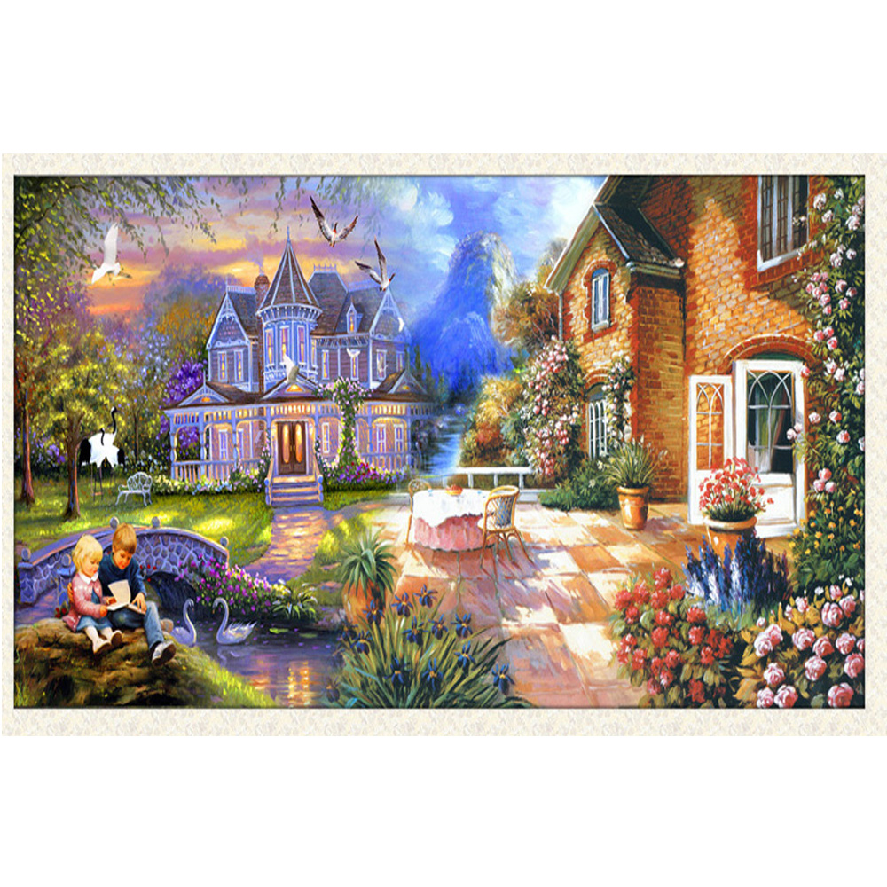 Вышивки красивых домов