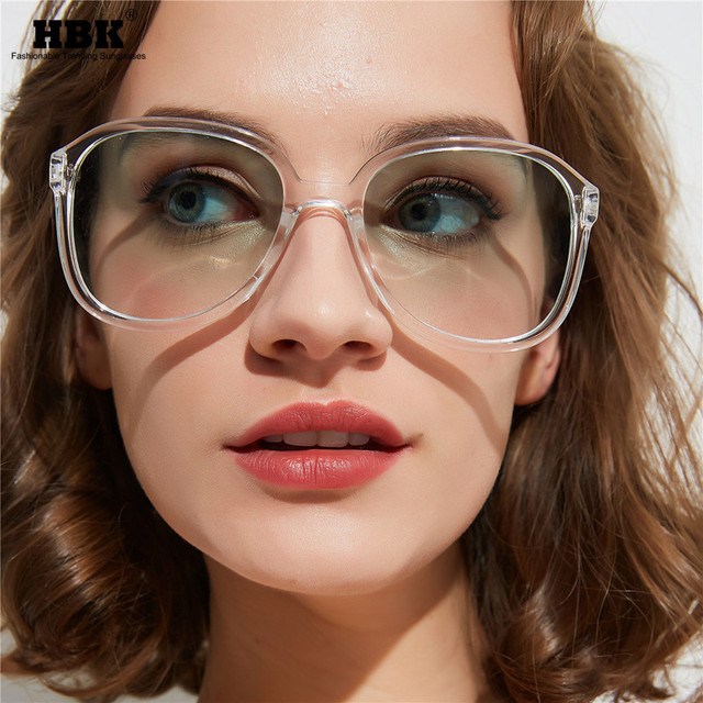 HBK 2019 New Fashion Brand Square Sunglasses Women Trendy Korean Oversized Candy Color Eyewear For Summer Vocation UV400