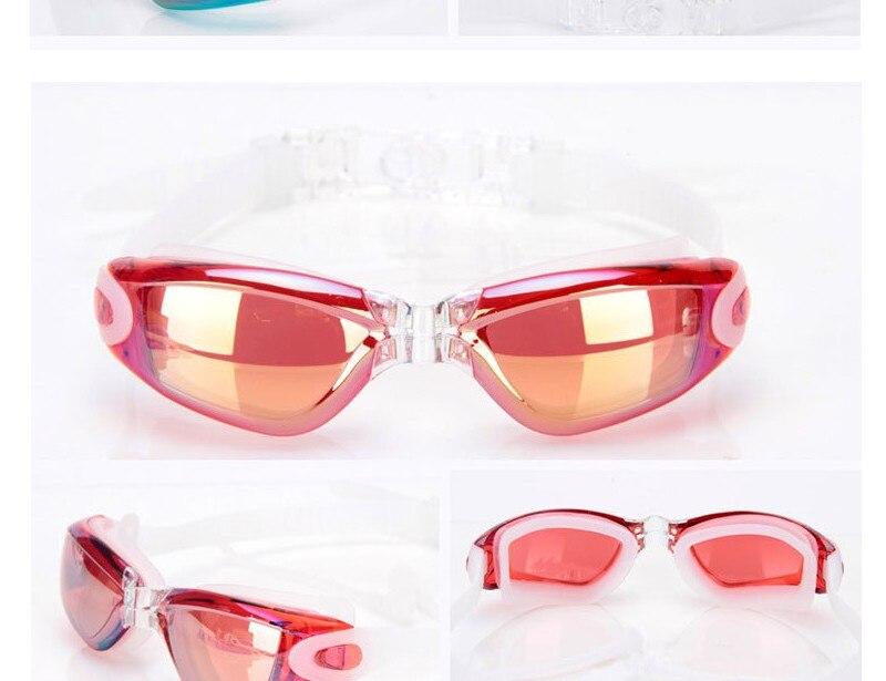 Silicone Professional Myopia Swimming Goggles With Earplug Anti Fog For Men And Women 5