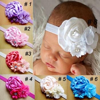 Fashion Cute Baby Girls Rhinestone Flower Headband Kids Toddler Hair Bands Hair Accessories