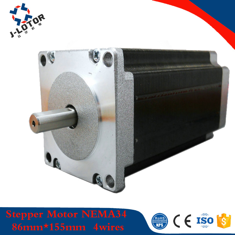 86mm*155mm 2phase hybrid stepper motor NEMA34 6A 12.2N.m 4 wires stepping motor for robots or electronic automatic equipment 86mm*155mm 2phase hybrid stepper motor NEMA34 6A 12.2N.m 4 wires stepping motor for robots or electronic automatic equipment