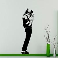 مايكل جاكسون الجدار شارات الفينيل ملصق موسيقى راقصة ملك البوب جدار الفن ديكور المنزل غرفة التصميم الداخلي L225