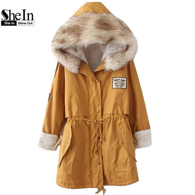 Зимняя верхняя одежда 2014 Горячее предложение Повседневное болотное пальто с капюшоном с искусственным мехом и с длинным рукавом Женская одежда Модная потрясающая верхняя одежда со шнурками