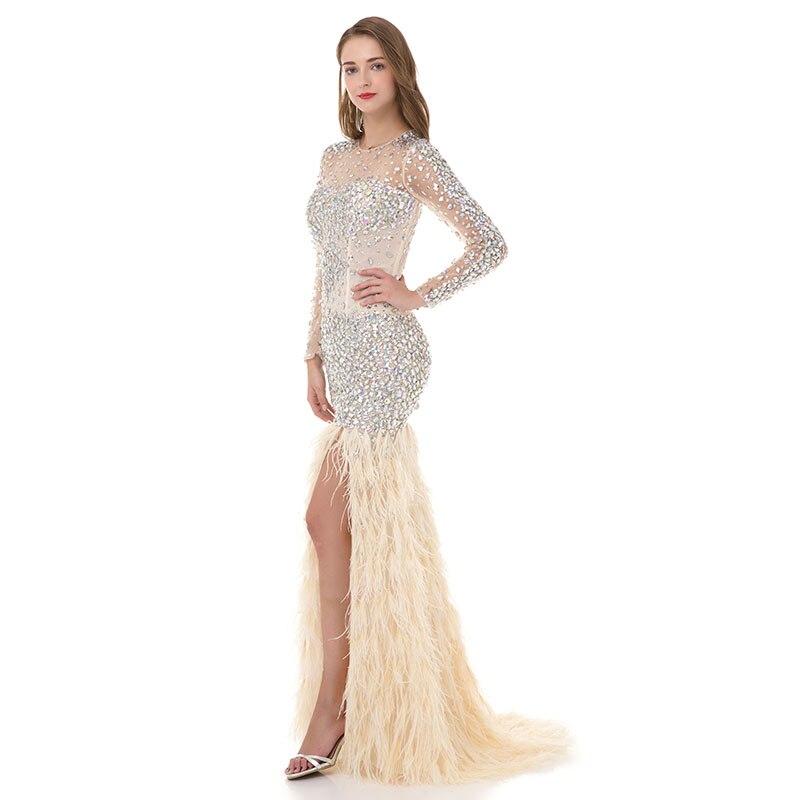 LORIE Kristaller ile Lüks Balo Elbise Akşam Elbise Mermaid Uzun - Özel Günler Için Elbise - Fotoğraf 2