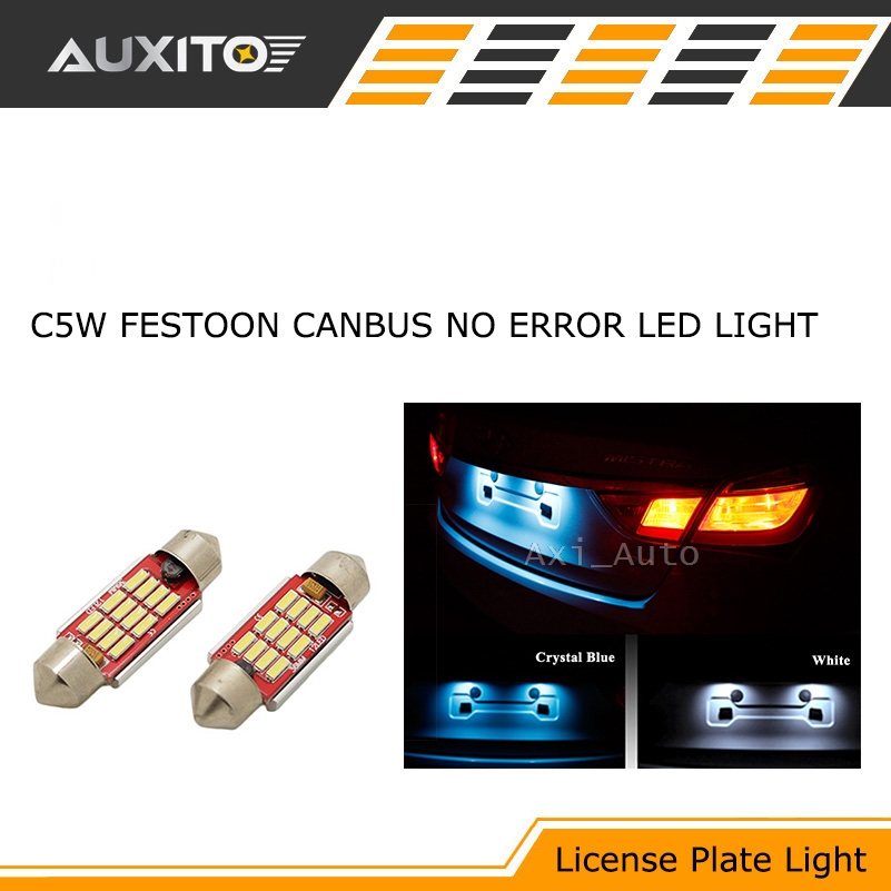 2x C5W 36mm Festoon LED CANBUS Car Interior Reading License plate light No Error For BMW Audi VW Porsche Mercedes 2x c5w 36mm festoon led canbus car interior reading license plate light no error for bmw audi vw porsche mercedes