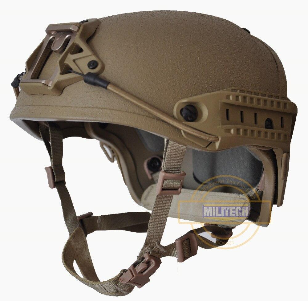 Schutzhelm Militech M/lg Cb Nij Level Iiia 3a Air Frame Aramid Kugelsichere Airframe Helm Mit Ballistischen Prüfbericht 5 Jahre Garantie