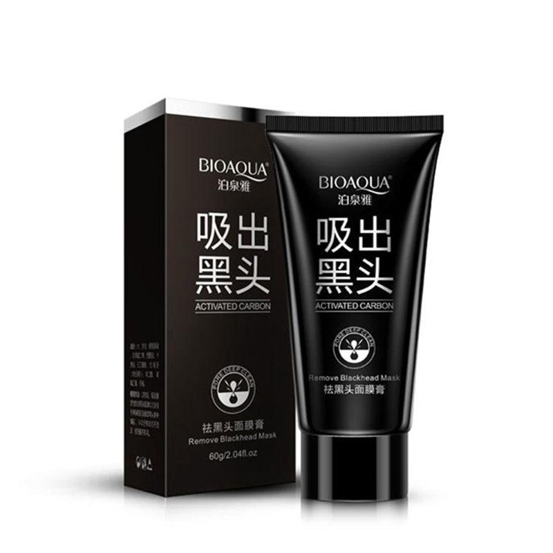 BIOAQUA márkafekete maszk mélytisztító arcmaszk szakadó stílus ellenálló zsíros bőr eper orr akne eltávolító sármaszk