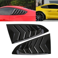 2Pcs Car Styling Carbon /Bright Black Vents Window Louver Car Scoop Cover For Ford Mustang 2015 2017 Automobiles Mouldings Trim