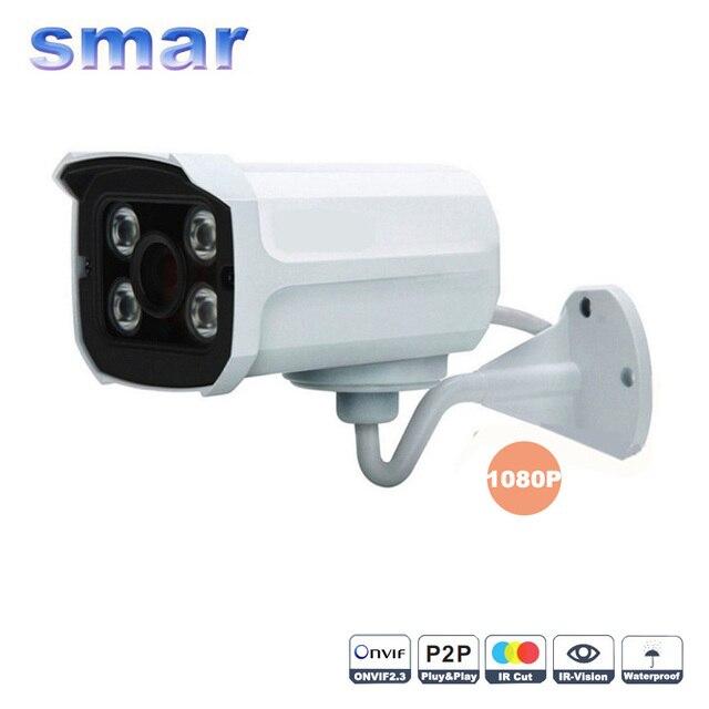 1920*1080 P 2.0MP 4 шт. светодиодов массива Ip-камера ONVIF Водонепроницаемые ИК-Фильтр Ночного Видения P2P Подключи и Играй Домой безопасности