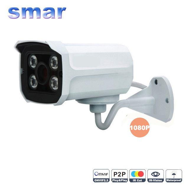 1920*1080P 2.0MP 4pcs array leds IP Camera ONVIF Waterproof Outdoor IR- CUT Filter Night Vision P2P Plug and Play Home Security