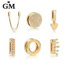 GM100%925 Sterling Silver Original Copy Of High Quality 1:1 Beads Logo Free Package Manufacturers Wholesale