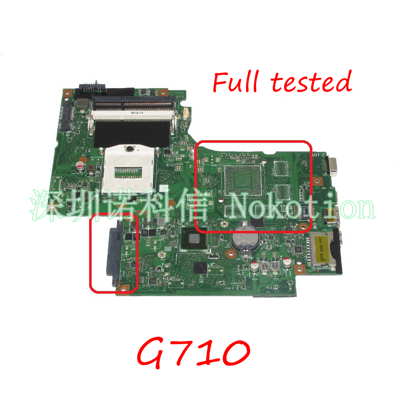 NOKOTION Laptop Motherboard For Lenovo IdeaPad G710 Z710 DUMBO2 REV2.1 HM86 HD4600 DDR3 MAIN BOARD full tested