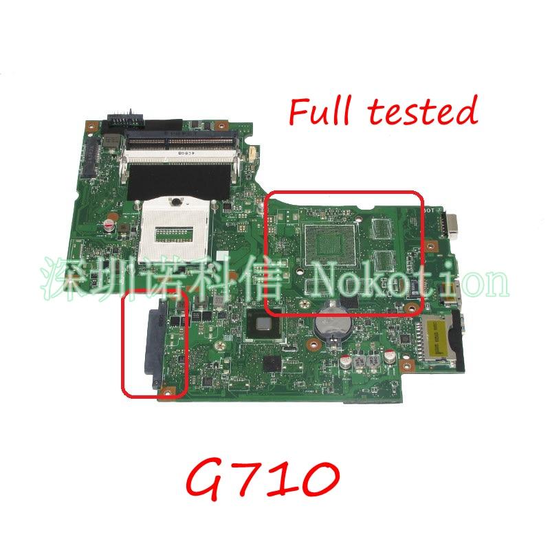 NOKOTION Laptop Motherboard For Lenovo IdeaPad G710 Z710 DUMBO2 REV2.1 HM86 HD4600 DDR3 MAIN BOARD full tested цена