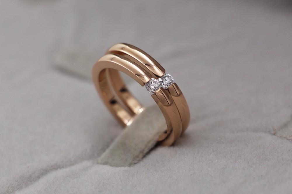 Nuevo llega joyería de moda oro plata Rosa oro anillo de color para el regalo del amante TYCR04
