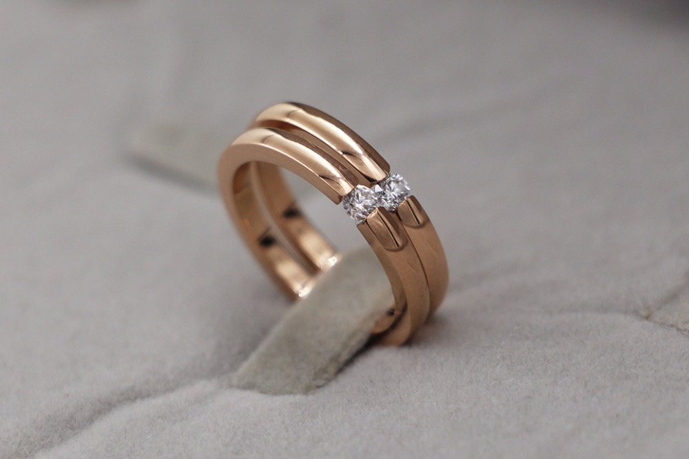 new arrive fashion jewelry ring gold sliver rose gold color ring for lover gift TYCR04 gold sliver leather analog fashion