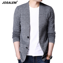 JOSALEM Sweater Cardigan Men 2017 New Autumn Winter Man Cashmere Single Button Knitwear Casual Mens Knitted Cotton Pocket Coats