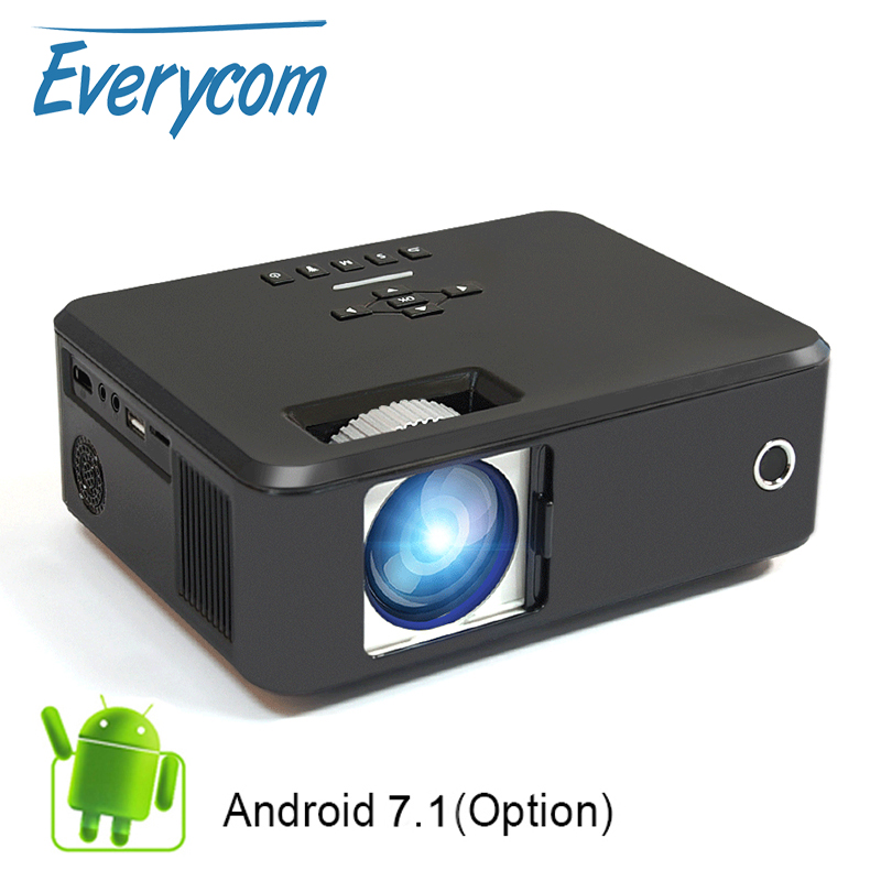 Everycom X20 Video Portable Pico Projector 2200 Lumens Native 800 600 Option Android Support 4K 1080p
