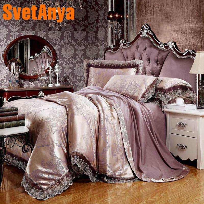 Svetanya 6in1 4in1 Bedding Sets Jacquard Bedlinen double sizeSvetanya 6in1 4in1 Bedding Sets Jacquard Bedlinen double size