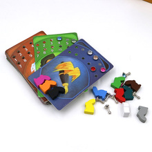 mini tell story deck card game deck 9+10+11+12+13+14+15, total 546 cards, wooden bunny toys gift for children board games