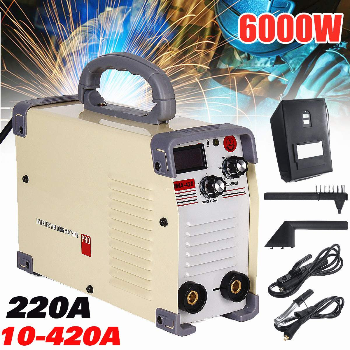 New 220V AC 10-420A Handheld Mini MMA DC Inverter Welding Machine With Clamp For Welding Working Welders Inverter Machine Tool