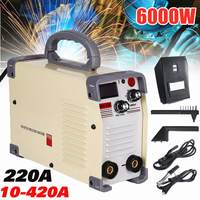 New 220V AC 10 420A Handheld Mini MMA DC Inverter Welding Machine With Clamp For Welding Working Welders Inverter Machine Tool