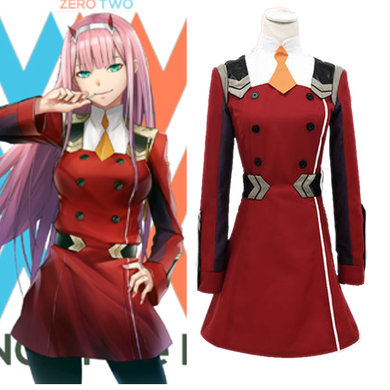 darling in the franxx ditf zero two cosplay costume uniform 02 prop headwear code 002 hairpin in. Black Bedroom Furniture Sets. Home Design Ideas