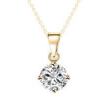 IF ME Simple Fashion Jewelry Silver and Gold Color Round Shape CZ Cubic Zirconia Pendant Necklace for Women Wedding Jewelry