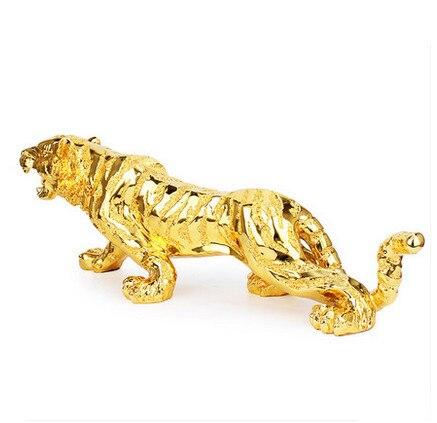 Les nouveaux articles d'ameublement européens grand bureau artisanal décoré en plaqué or tigre pour protéger la parure familiale paisible