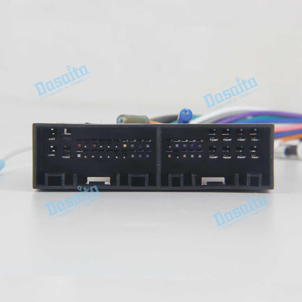 Dasaita DYX006 coche Autoradio Cable de alimentación para Hyundai Elantra IX35 Santa Fe Sonata Verna IX25 KIA K2 K5 K3 RIO cerato Sportage