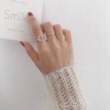 MENGJIQIAO 2019 Korean New Delicate Shiny Zircon Moon Star Open Adjustable Rings For Women Micro Pave Femme Finger Ring 2pcs/set