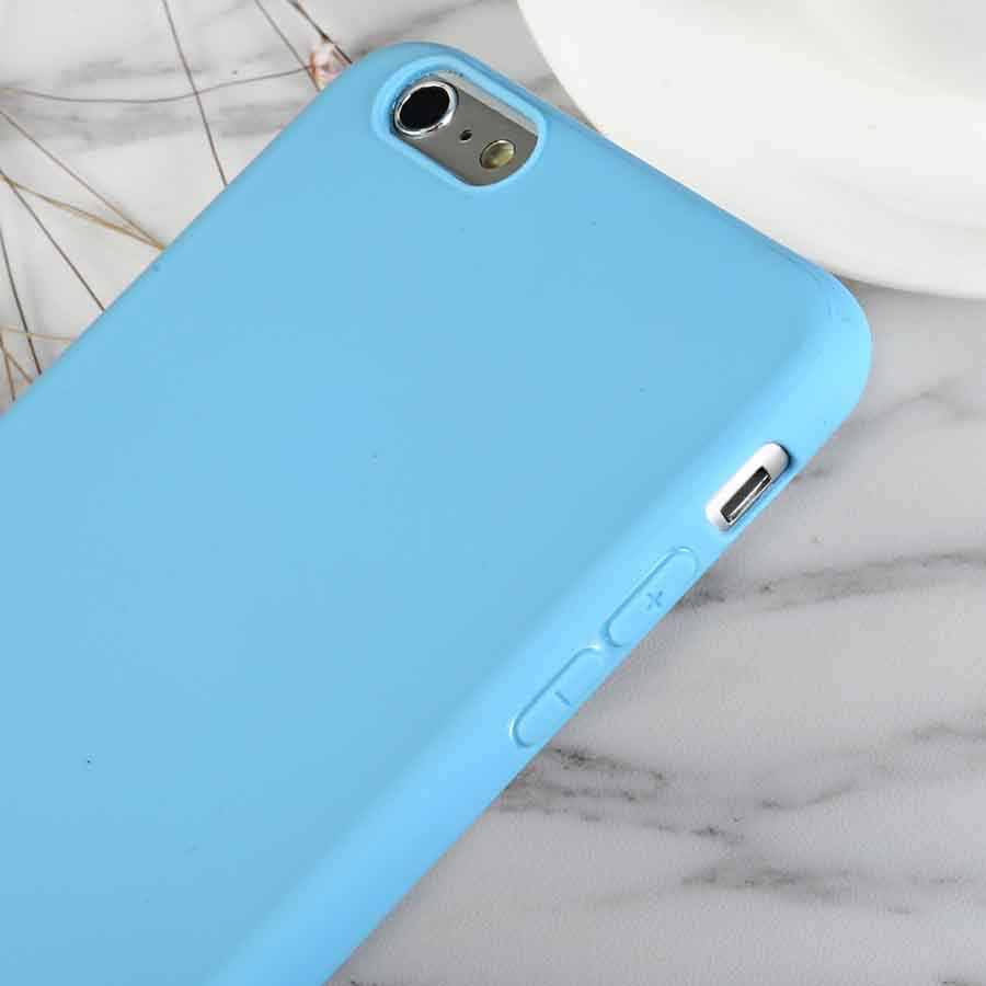 Luxus Sky Blau Weichen Silikon Telefon Fall Für iPhone X XR XS Max 5 5S SE 6 6S 7 8 Plus 11 Pro Max 2019 6,5 In Abdeckung Coque Fundas
