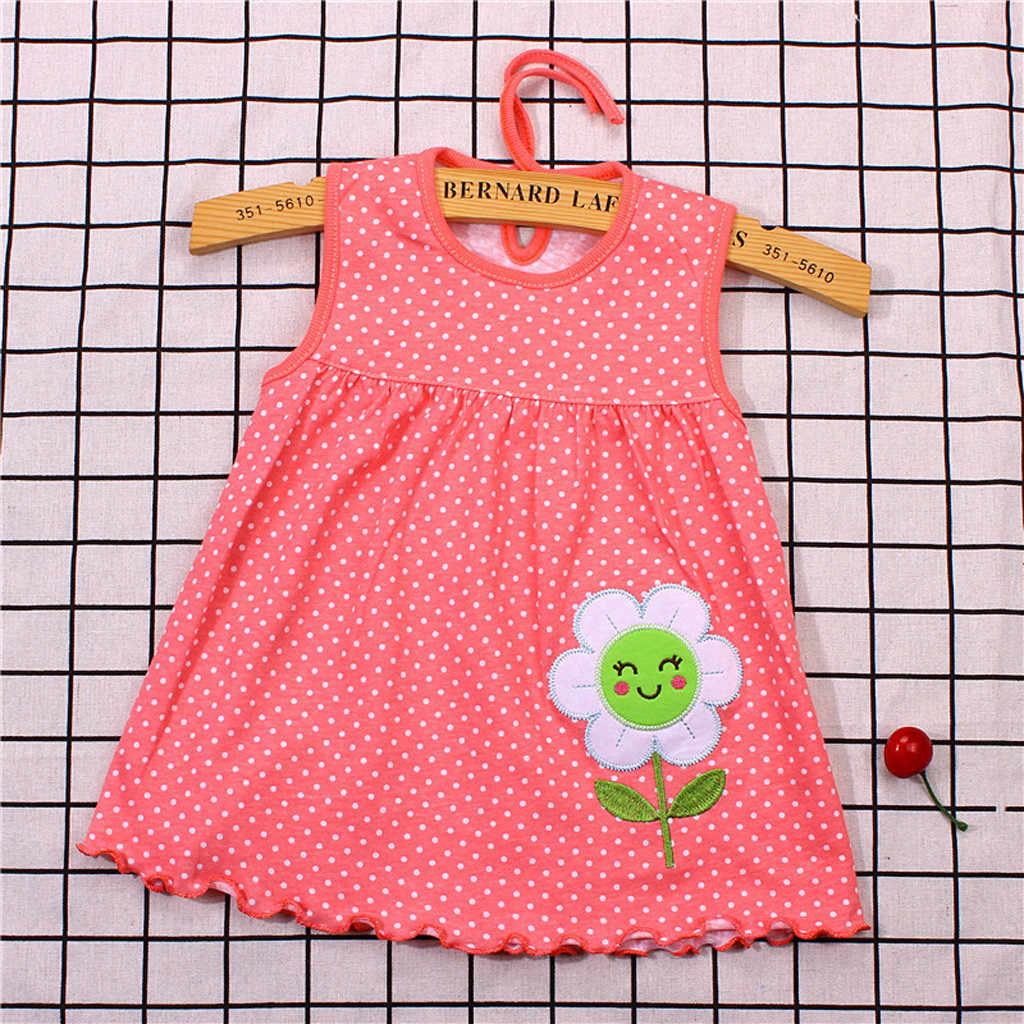 Коллекция 2019 года, детские футболки в горошек с цветочным рисунком для маленьких девочек, платье-футболка, Жилет Модная одежда sukienki dziewczynka