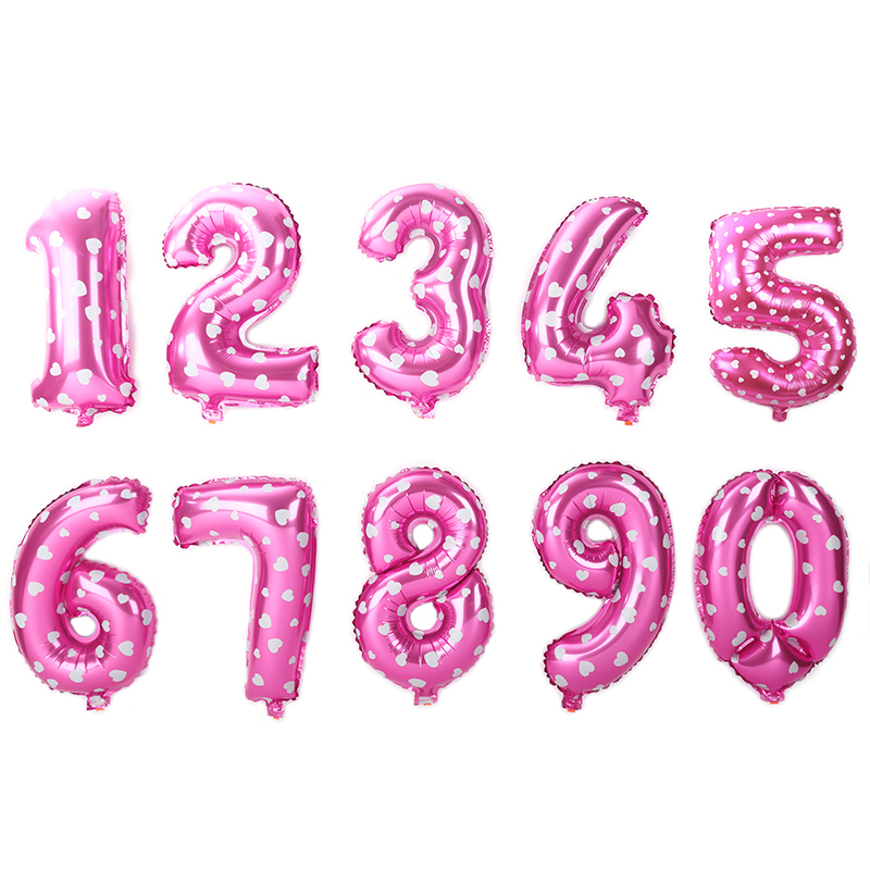 32inch Number Balloons digital Foil Ballon For Birthday Party Decorations Kids Adult Anniversary Balloon Air Helium globos
