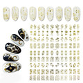 Yaoshun 3D Gold Nail Art Stickers Decals 108pcs/sheet Top Quality Metallic Flowers Mixed Designs Nail Tips Accessory Tool